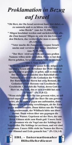 Proklamation in Bezug auf Israel
